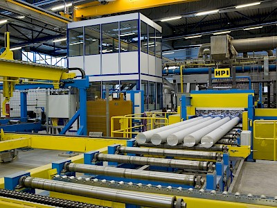 Remelt plant for production of aluminium billets
