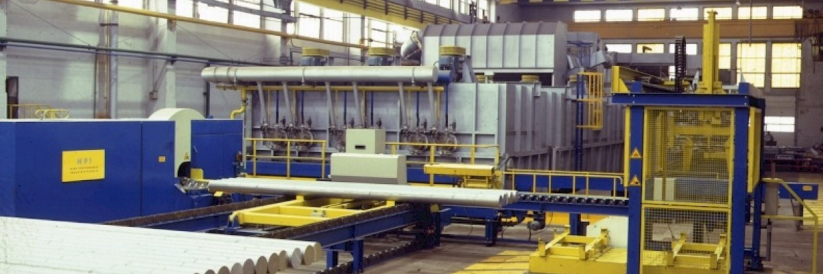 Continuous homogenising lines - Continuous Homogenising Plant with integrated Saw Line