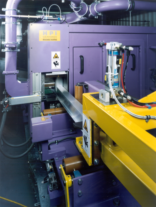 Sawing line for single profiles